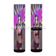 Jinx Boom League of Legends Custom Sublimation Printed Socks Polyester Acrylic Nylon Spandex with Small Medium Large Size
