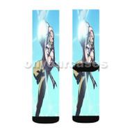 Kamehame of Master Roshi Custom Sublimation Printed Socks Polyester Acrylic Nylon Spandex with Small Medium Large Size