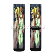 Poison Ivy Harley Quinn Custom Sublimation Printed Socks Polyester Acrylic Nylon Spandex with Small Medium Large Size