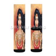 Punk Wonder Woman Custom Sublimation Printed Socks Polyester Acrylic Nylon Spandex with Small Medium Large Size