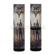 Shadowrun Returns Dragonfall Custom Sublimation Printed Socks Polyester Acrylic Nylon Spandex with Small Medium Large Size
