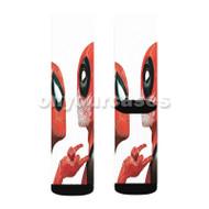 Spiderman Deadpool Custom Sublimation Printed Socks Polyester Acrylic Nylon Spandex with Small Medium Large Size