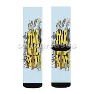 Star Wars Rocks Custom Sublimation Printed Socks Polyester Acrylic Nylon Spandex with Small Medium Large Size