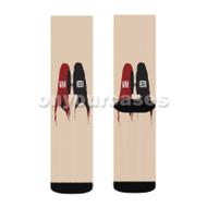 The 100 Wanheda Custom Sublimation Printed Socks Polyester Acrylic Nylon Spandex with Small Medium Large Size