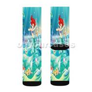 Ariel The Little Mermaid Disney Custom Sublimation Printed Socks Polyester Acrylic Nylon Spandex with Small Medium Large Size