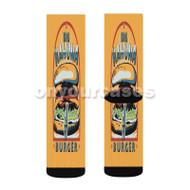 Big Kahuna Burger Custom Sublimation Printed Socks Polyester Acrylic Nylon Spandex with Small Medium Large Size