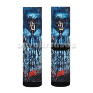 Daredevil Marvel Custom Sublimation Printed Socks Polyester Acrylic Nylon Spandex with Small Medium Large Size