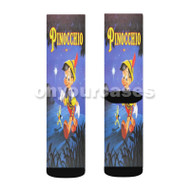 Disney Pinocchio Classic Custom Sublimation Printed Socks Polyester Acrylic Nylon Spandex with Small Medium Large Size