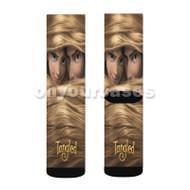 Disney Tangled Rapunzel and Flynn Rider Custom Sublimation Printed Socks Polyester Acrylic Nylon Spa with Small Medium Large Size