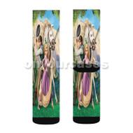 Disney Tangled Rapunzel Flynn and Maximus Custom Sublimation Printed Socks Polyester Acrylic Nylon S with Small Medium Large Size