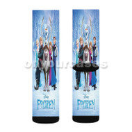Frozen Disney Characters Custom Sublimation Printed Socks Polyester Acrylic Nylon Spandex with Small Medium Large Size