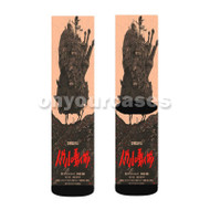 Howls Moving Castle Original Custom Sublimation Printed Socks Polyester Acrylic Nylon Spandex with Small Medium Large Size
