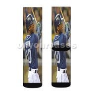 Justin Upton San Diego Padres Custom Sublimation Printed Socks Polyester Acrylic Nylon Spandex with Small Medium Large Size