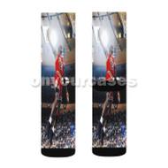 Michael Jordan Bulls Custom Sublimation Printed Socks Polyester Acrylic Nylon Spandex with Small Medium Large Size