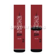 Michael Jordan Quotes Custom Sublimation Printed Socks Polyester Acrylic Nylon Spandex with Small Medium Large Size