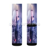 Nicky Romero Custom Sublimation Printed Socks Polyester Acrylic Nylon Spandex with Small Medium Large Size