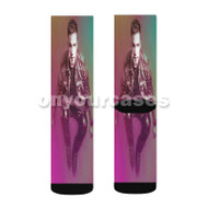Nicky Romero DJ Custom Sublimation Printed Socks Polyester Acrylic Nylon Spandex with Small Medium Large Size