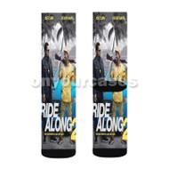 Ride Along 2 Movie Ice Cube Custom Sublimation Printed Socks Polyester Acrylic Nylon Spandex with Small Medium Large Size