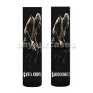 Scorpion Mortal Kombat X Custom Sublimation Printed Socks Polyester Acrylic Nylon Spandex with Small Medium Large Size