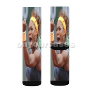 Serena Williams Celebrates Custom Sublimation Printed Socks Polyester Acrylic Nylon Spandex with Small Medium Large Size