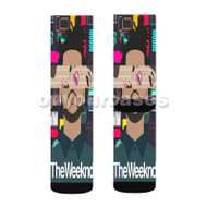 The Weeknd Custom Sublimation Printed Socks Polyester Acrylic Nylon Spandex 1 with Small Medium Large Size