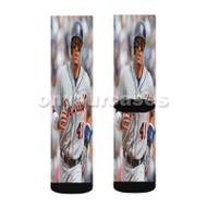Victor Martinez Detroit Tigers Baseball Player Custom Sublimation Printed Socks Polyester Acrylic Ny with Small Medium Large Size