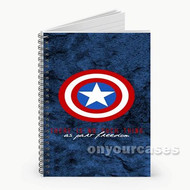 Captain America The Avengers Custom Personalized Spiral Notebook Cover