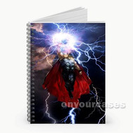 Thor The Avengers Custom Personalized Spiral Notebook Cover