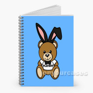 42 Moschino Playboy Bear Blue Custom Personalized Spiral Notebook Cover