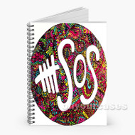 5 Seconds of Summer 5 SOS Custom Personalized Spiral Notebook Cover