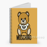 54 Moschino Bear Toy Custom Personalized Spiral Notebook Cover
