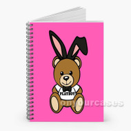 91 Moschino Playboy Bear Custom Personalized Spiral Notebook Cover