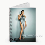 Angelina Jolie Custom Personalized Spiral Notebook Cover