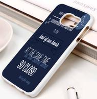 Beside You Lyrics 5sos Samsung Galaxy S3 S4 S5 S6 S7 case / cases