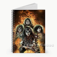 Kiss Custom Personalized Spiral Notebook Cover