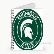 Michigan State Spartans Custom Personalized Spiral Notebook Cover
