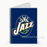 Utah Jazz NBA Custom Personalized Spiral Notebook Cover