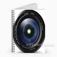 Zoom Lens Custom Personalized Spiral Notebook Cover