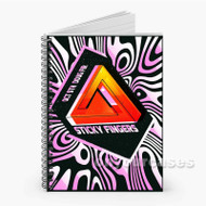 Sticky Fingers Custom Personalized Spiral Notebook Cover