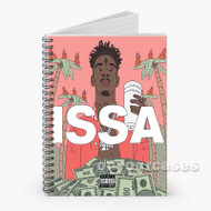 21 Savage Baby Girl Custom Personalized Spiral Notebook Cover