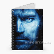 Game of Thron Winter is Here 2 Custom Personalized Spiral Notebook Cover
