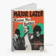 Know No Better Major Lazer Feat Travis Scott Quavo Camila Cab Custom Personalized Spiral Notebook