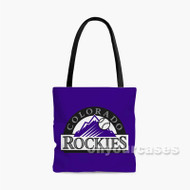 Colorado Rockies MLB Custom Personalized Tote Bag Polyester with Small Medium Large Size