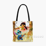 Cute Lilo and Stitch Custom Personalized Tote Bag Polyester with Small Medium Large Size