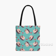 Hedgehog Custom Personalized Tote Bag Polyester with Small Medium Large Size