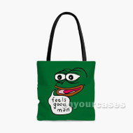 Pepe Feels Good Man Custom Personalized Tote Bag Polyester with Small Medium Large Size