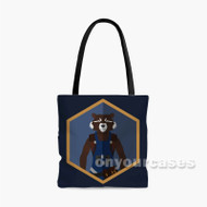 Rocket Racoon The Avengers Custom Personalized Tote Bag Polyester with Small Medium Large Size