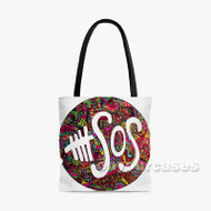 5 Seconds of Summer 5 SOS Custom Personalized Tote Bag Polyester with Small Medium Large Size