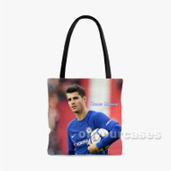 lvaro Morata Custom Personalized Tote Bag Polyester with Small Medium Large Size