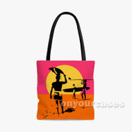 Endless Summer Custom Personalized Tote Bag Polyester with Small Medium Large Size